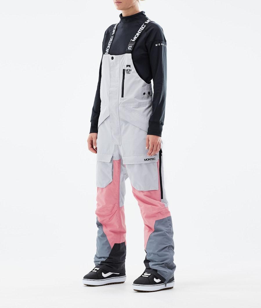 Montec Fawk W Pantaloni Snowboard Light Grey/Pink/Light Pearl