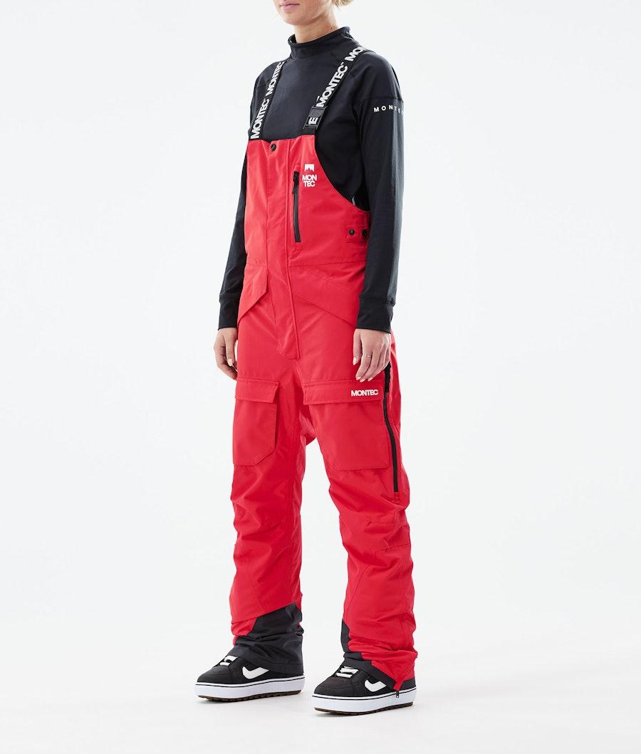 Montec Fawk W Snowboardhose Red