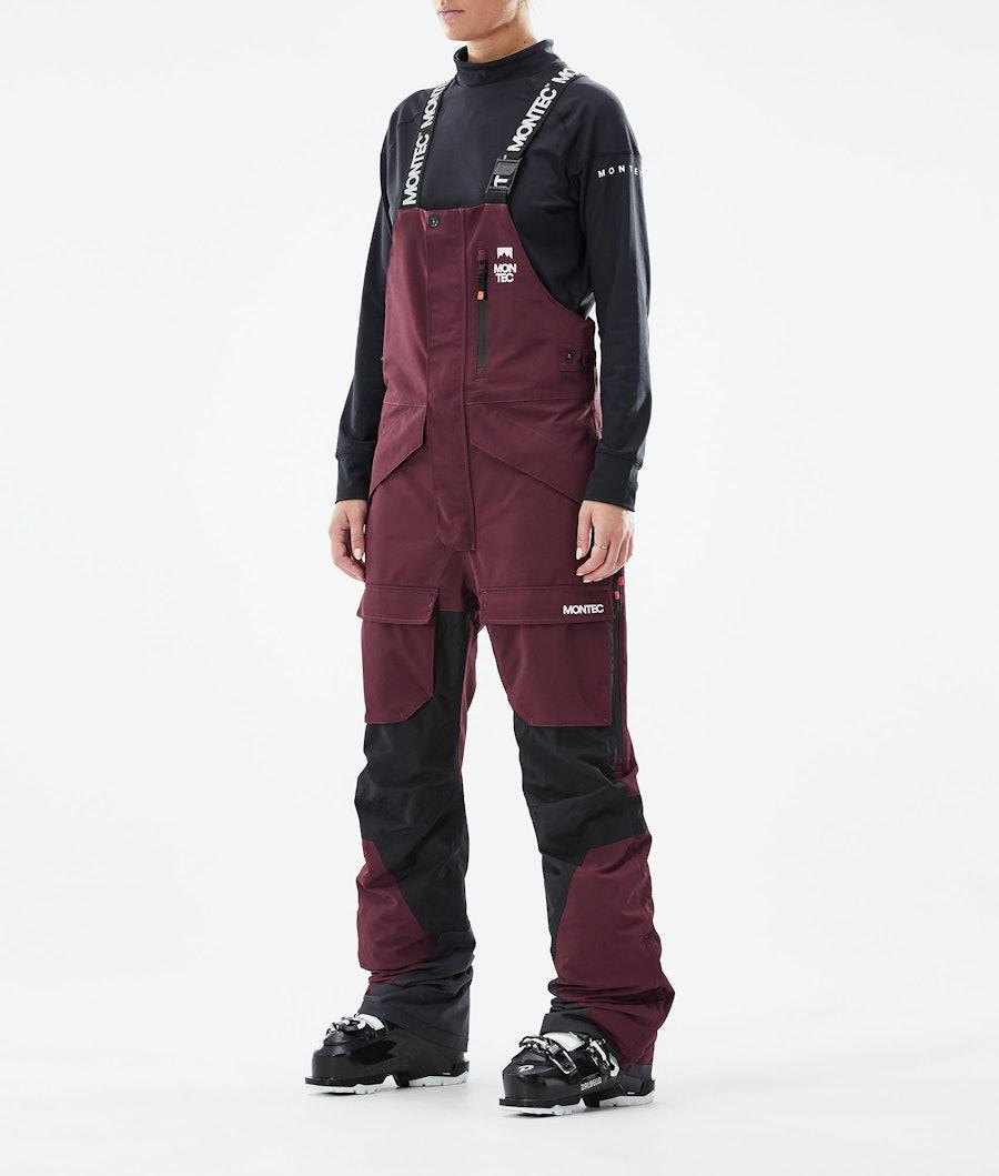 Fawk W Ski Pants Women Burgundy/Black