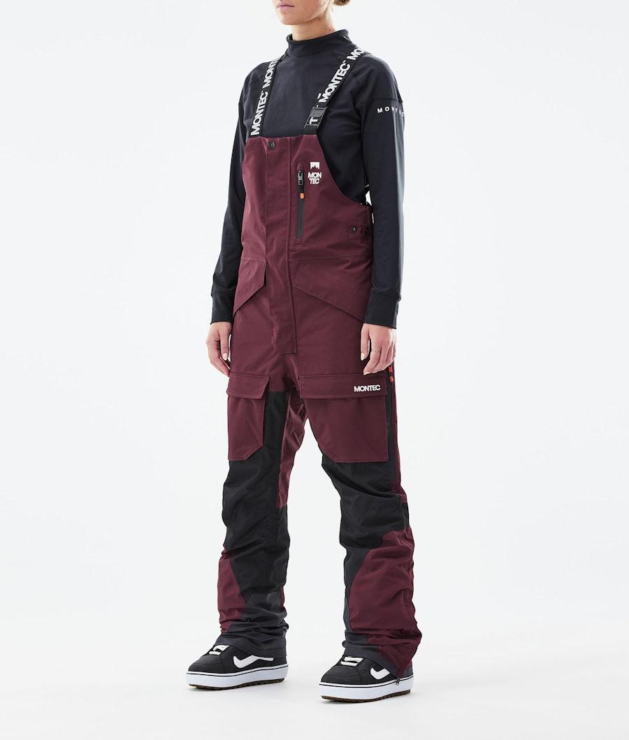 Montec Fawk W Snowboardhose Burgundy/Black