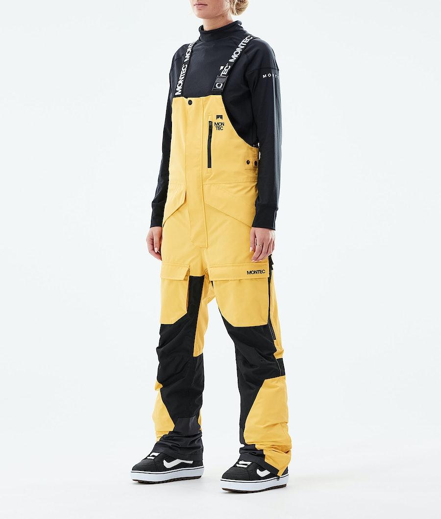 Montec Fawk W Snowboardhose Yellow/Black