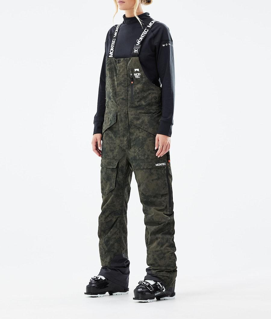 Fawk W Ski Pants Women Olive Green Tiedye