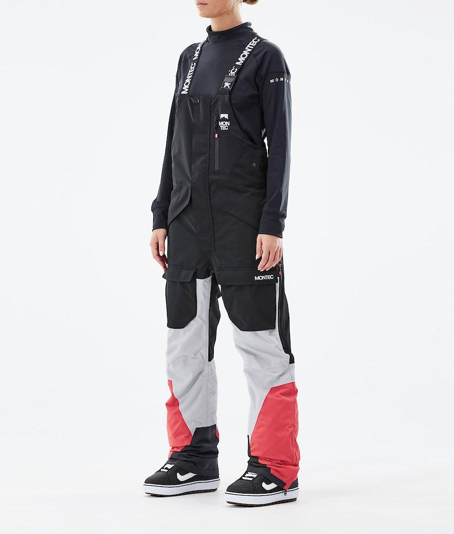 Montec Fawk W Snowboardhose Black/Light Grey/Coral