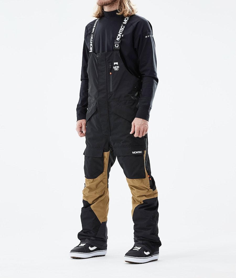 Montec Fawk Lumilautailuhousut Black/Gold