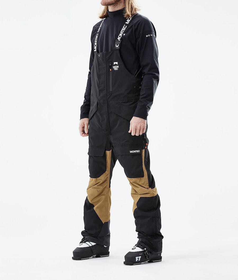 Montec Fawk Lasketteluhousut Black/Gold