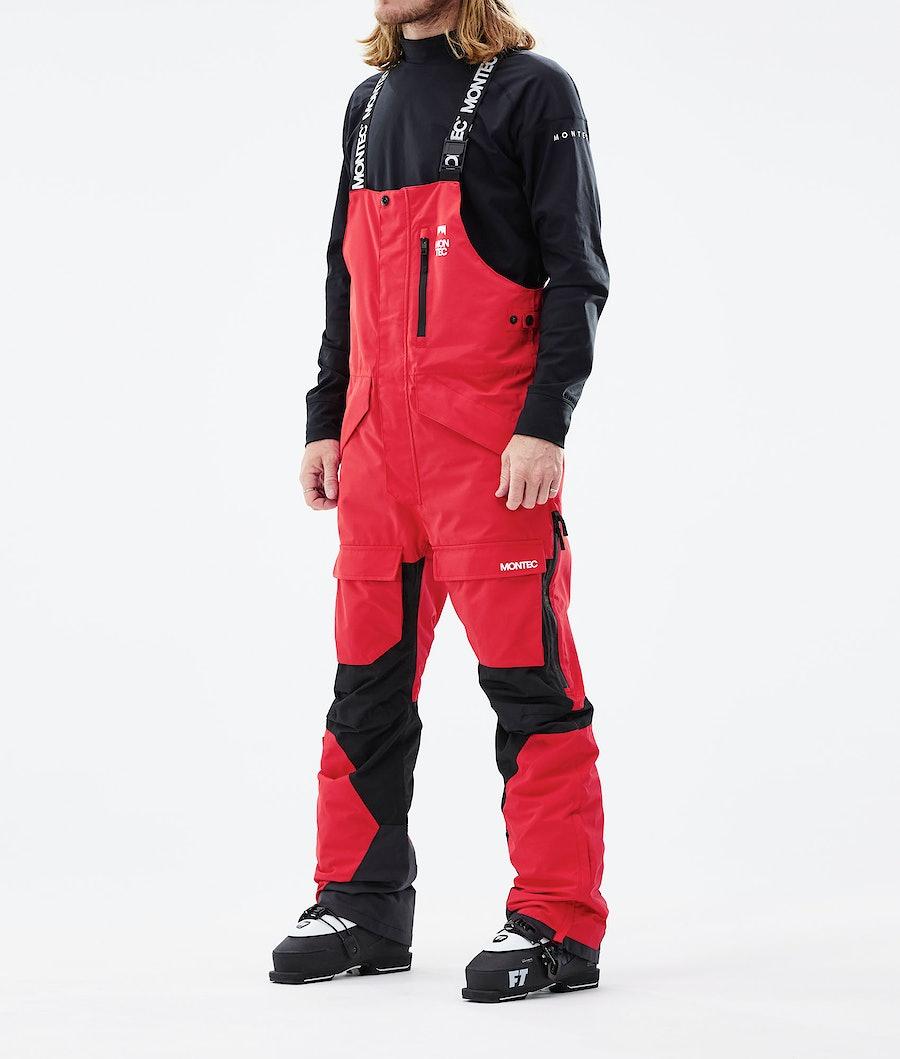 Fawk Ski Pants Men Red/Black