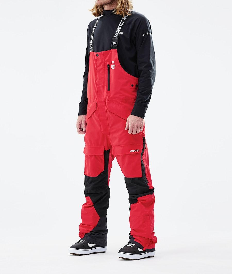 Montec Fawk Lumilautailuhousut Red/Black