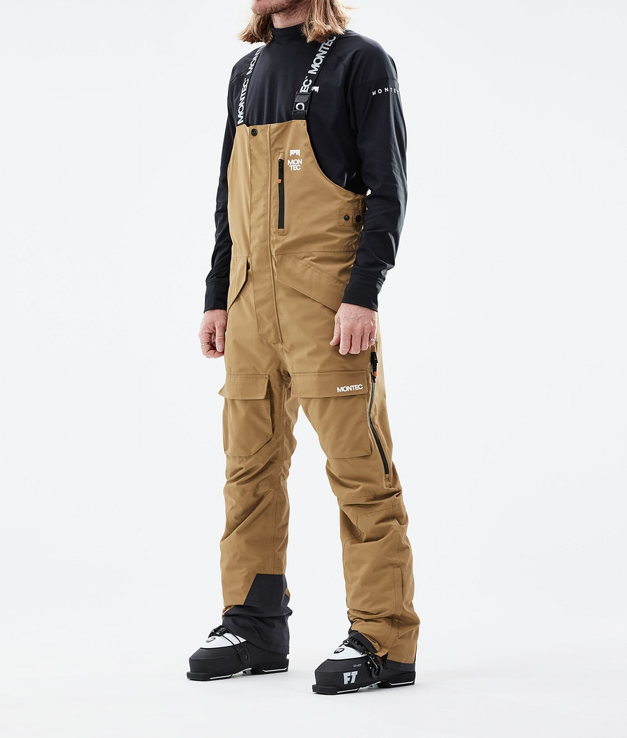 Fawk Ski Pants Men Gold