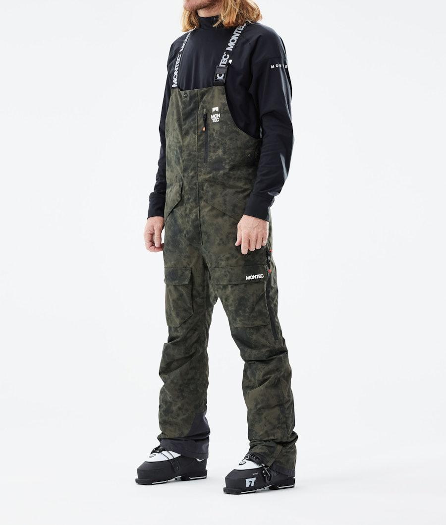 Fawk Ski Pants Men Olive Green Tiedye
