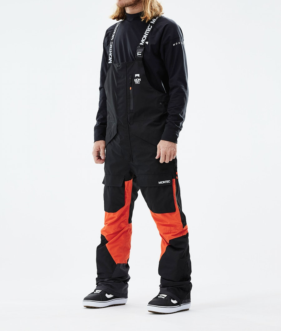Montec Fawk Lumilautailuhousut Black/Orange