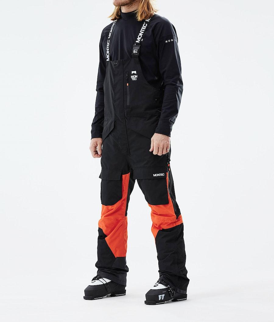 Fawk Ski Pants Men Black/Orange