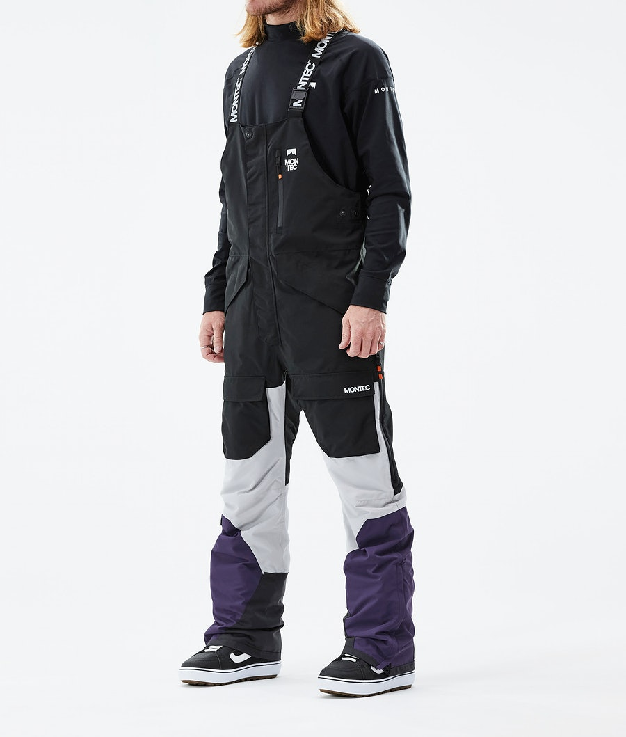 Montec Fawk Lumilautailuhousut Black/Light Grey/Purple