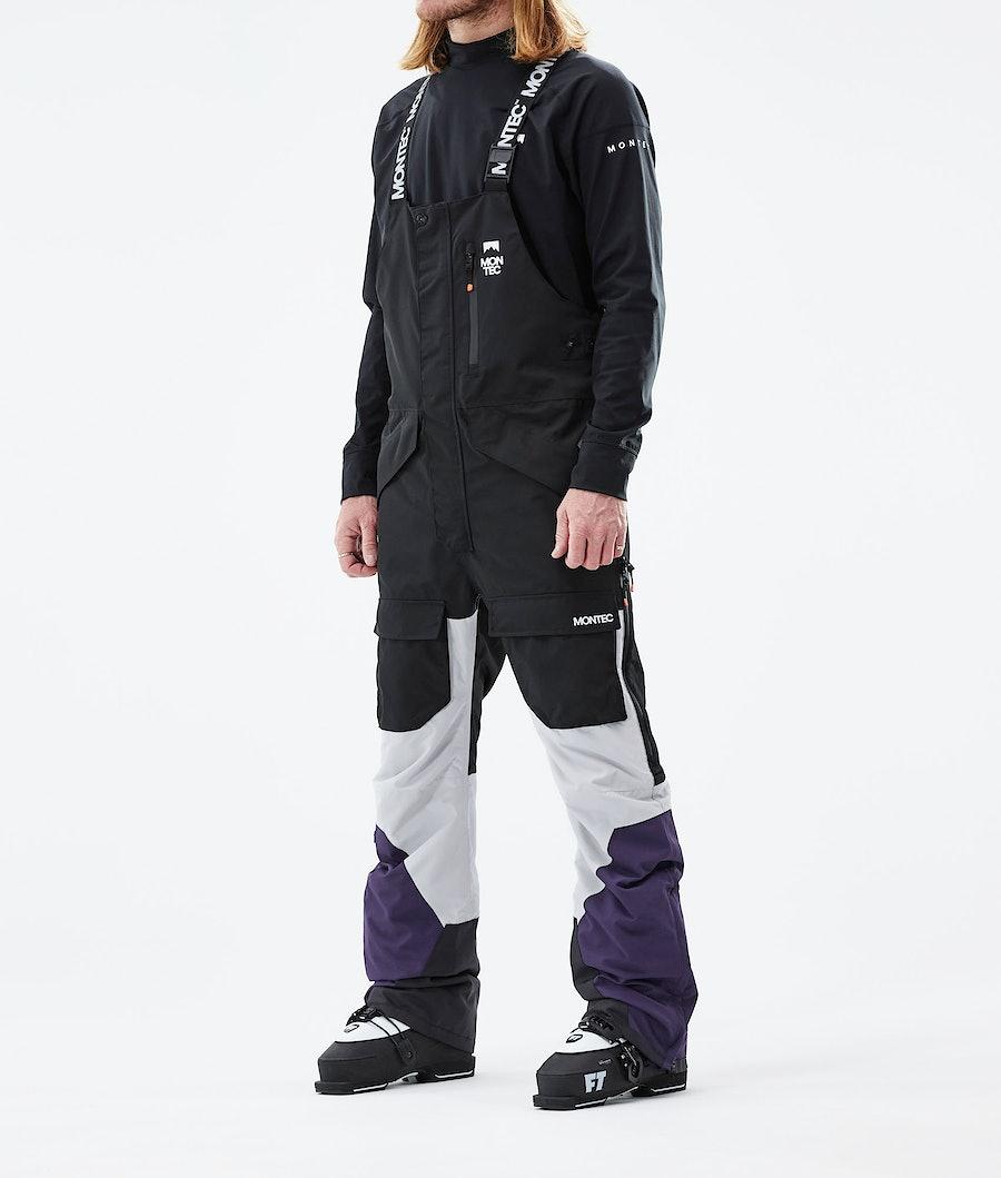 Fawk Ski Pants Men Black/Light Grey/Purple
