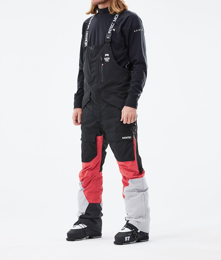 Fawk Ski Pants Men Black/Coral/LightGrey