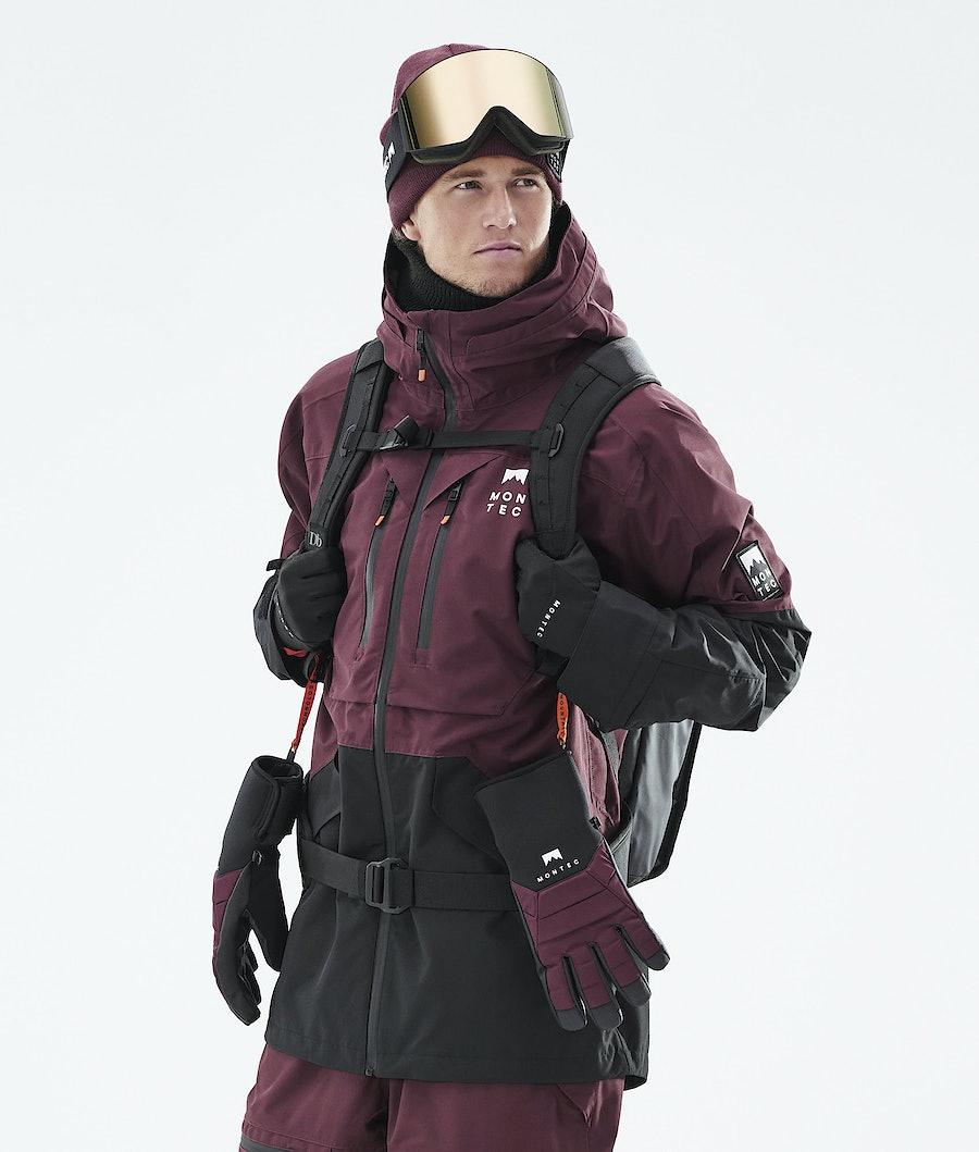 Moss Ski Jacket Men Burgundy/Black