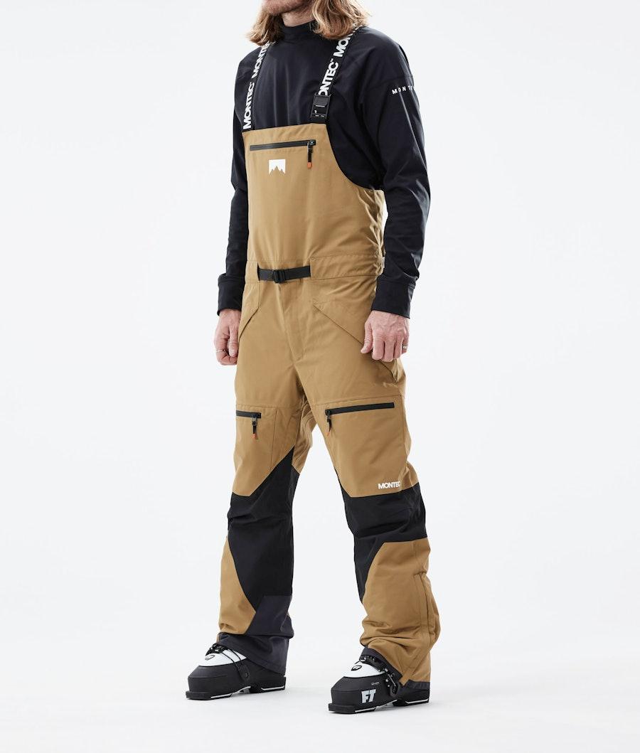 Moss Ski Pants Men Gold/Black