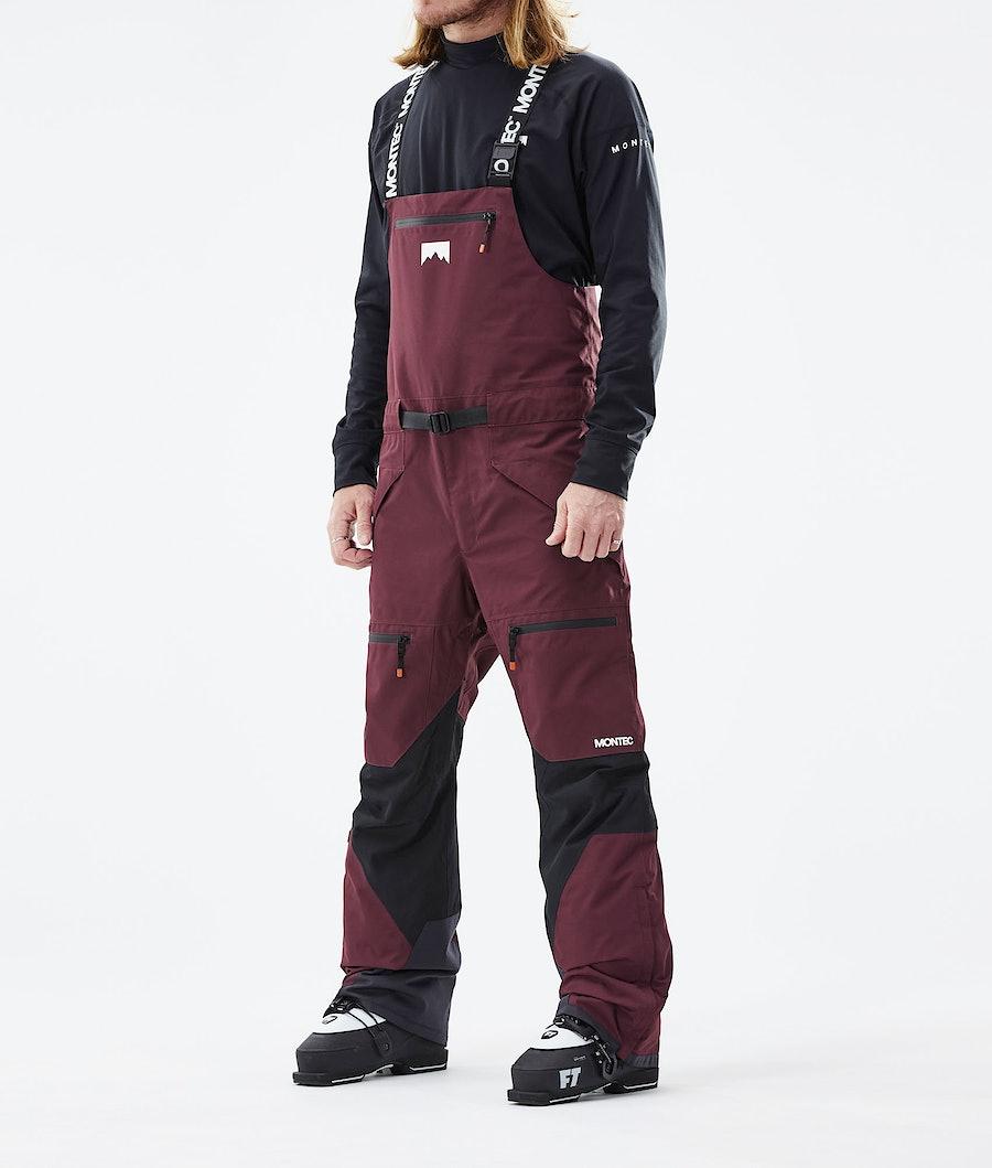 Moss Ski Pants Men Burgundy/Black
