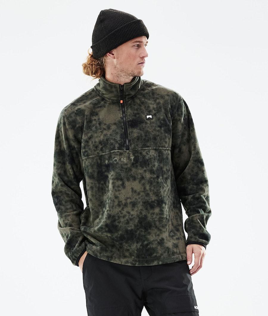 Echo Fleece Sweater Men Olive Green Tiedye