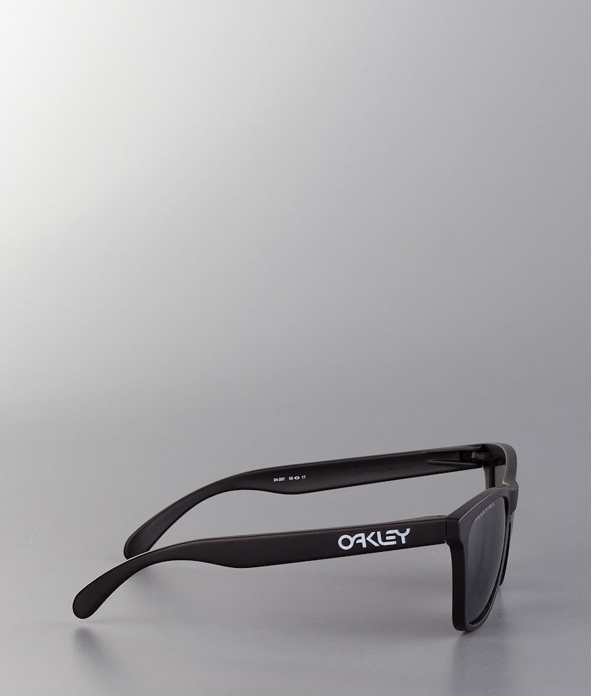 3c4836569f Oakley Frogskin Sunglasses Matte Black w Black Iridium Polarized ...