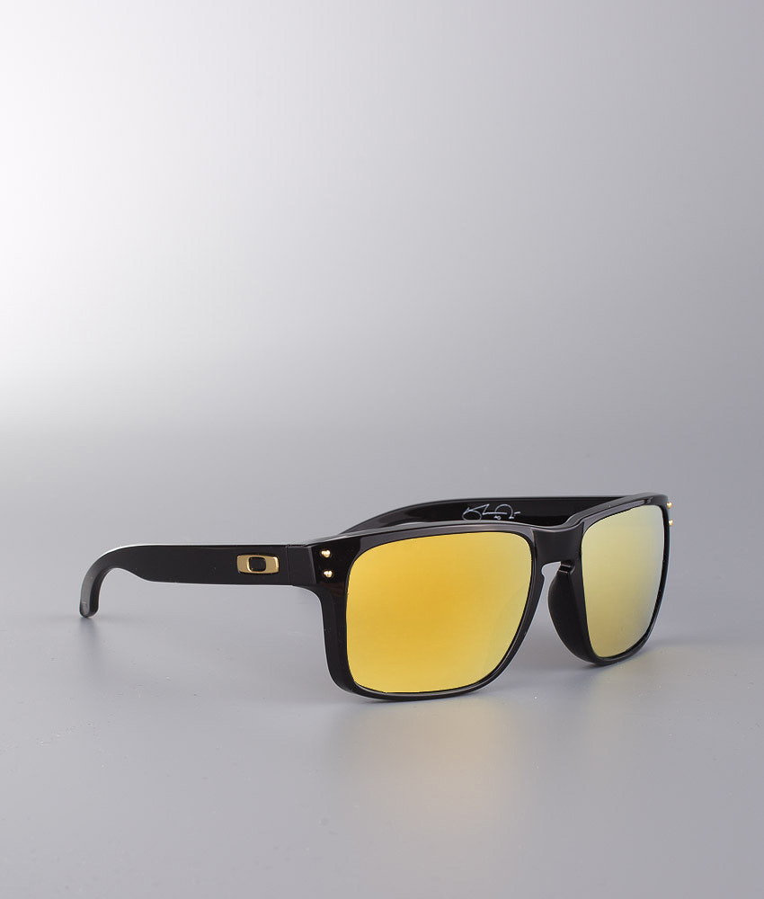 018ab95b7e Oakley Holbrook Sunglasses Polished Black W 24K Gold Iridium ...