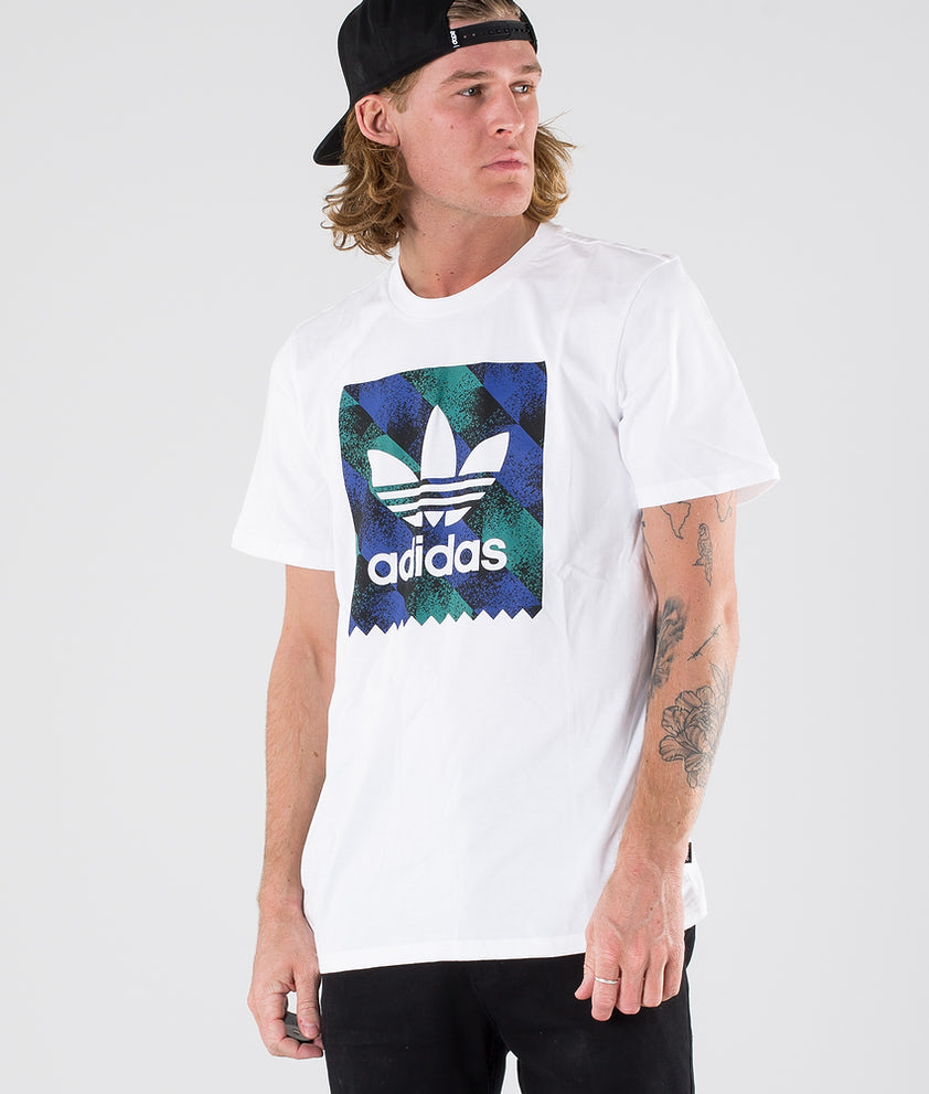 Adidas Skateboarding Towning Bb T-shirt White/Black/Active Blue/Active Green