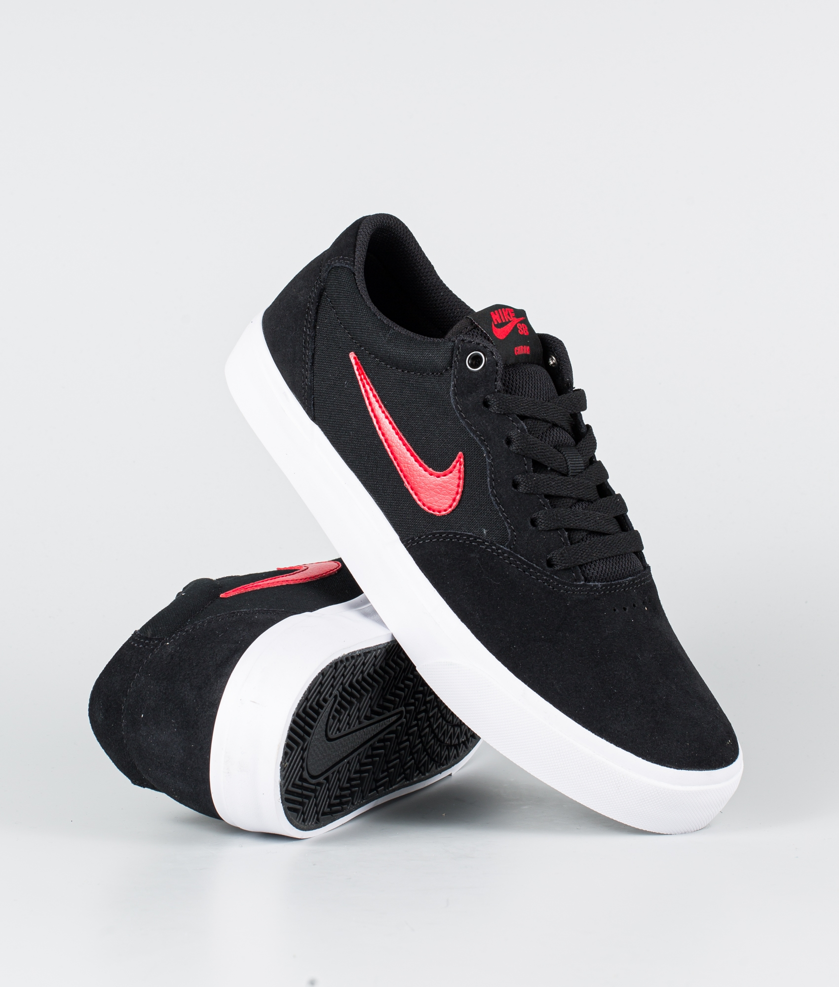 Nike SB Chron Solarsoft Shoes Black/University Red