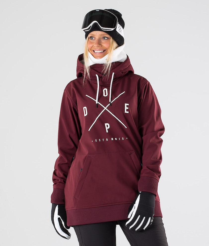 Dope Yeti W Snowboardjakke Burgundy