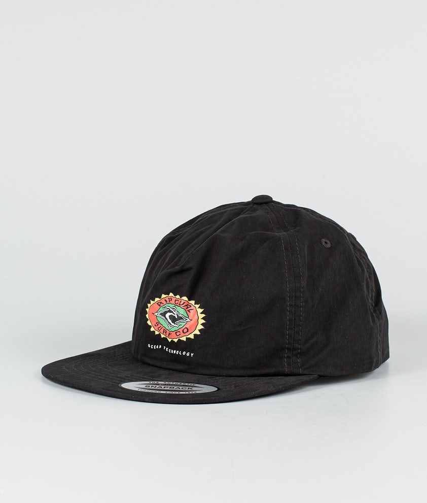 Rip Curl Fade Out Sun Snapback Lippis Washed Black