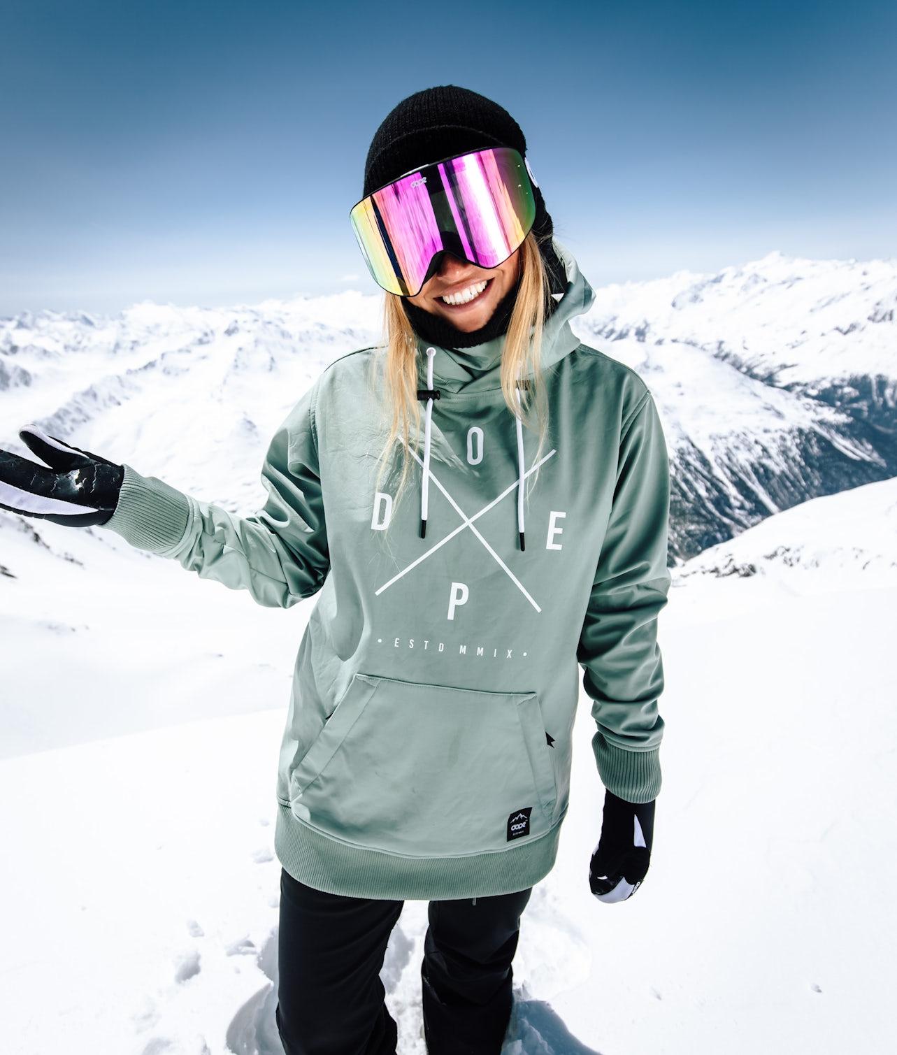 Dope Yeti W Snowboardjakke Faded Green