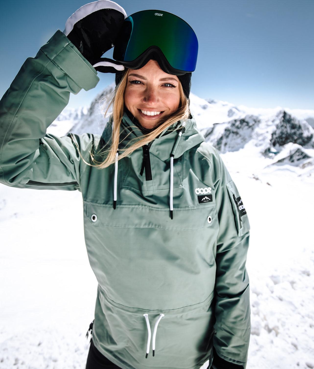Dope Annok W Snowboardjakke Faded Green