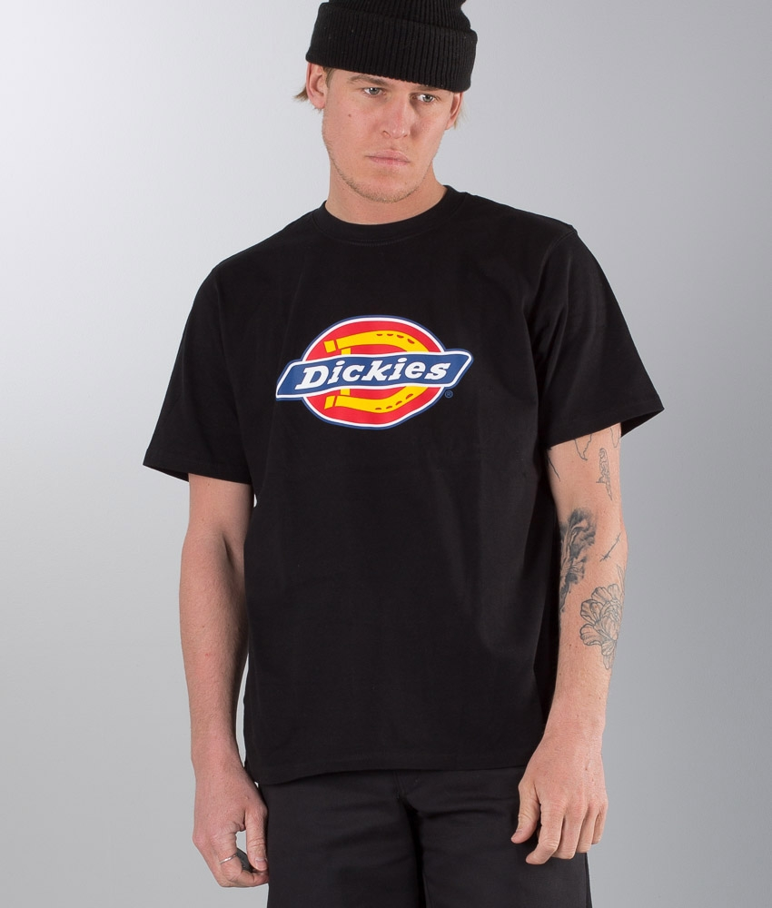 Dickies Men/'s New Horseshoe Logo Short Sleeve Regular Fit Cotton T-shirt Black