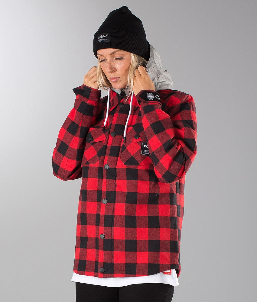 Dope Hooded Mako Unisex Jacket Red/Black