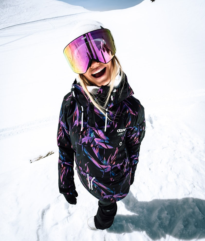Dope Annok W Snowboard Jacket Purple Foliage