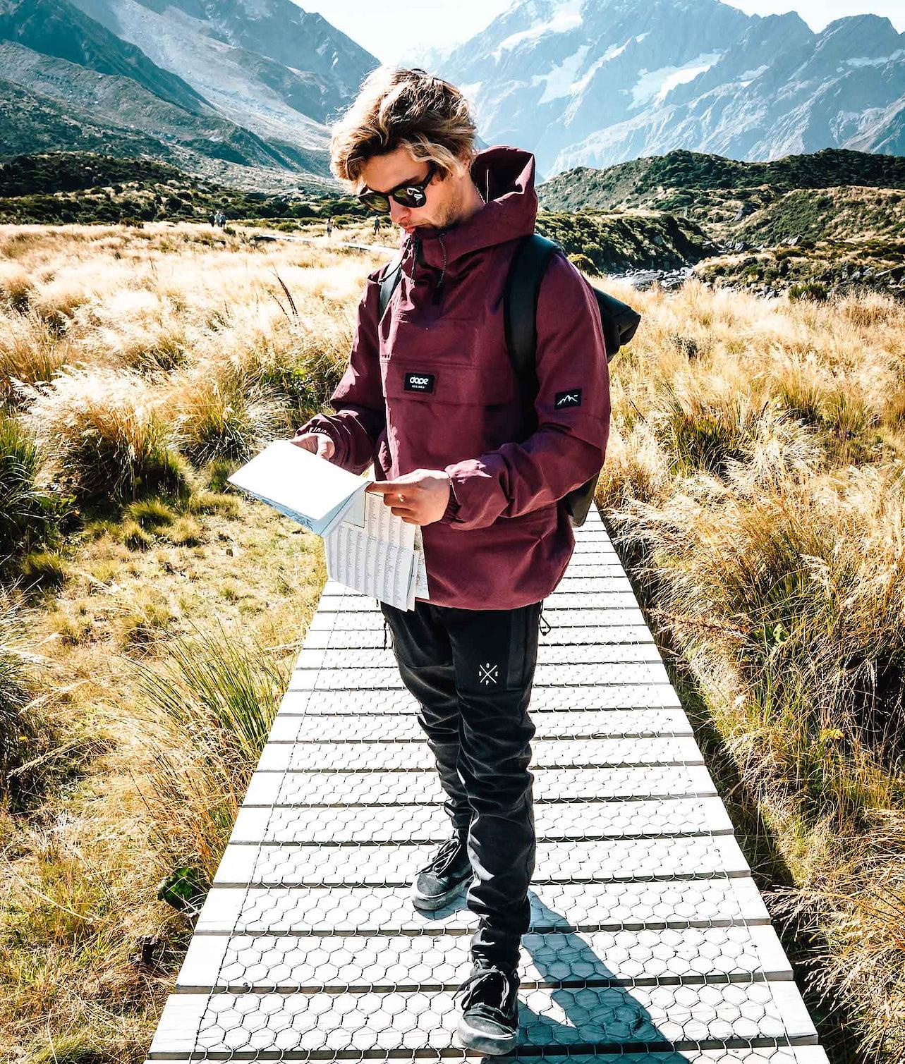 Dope Hiker 19 Outdoor Jacka Burgundy