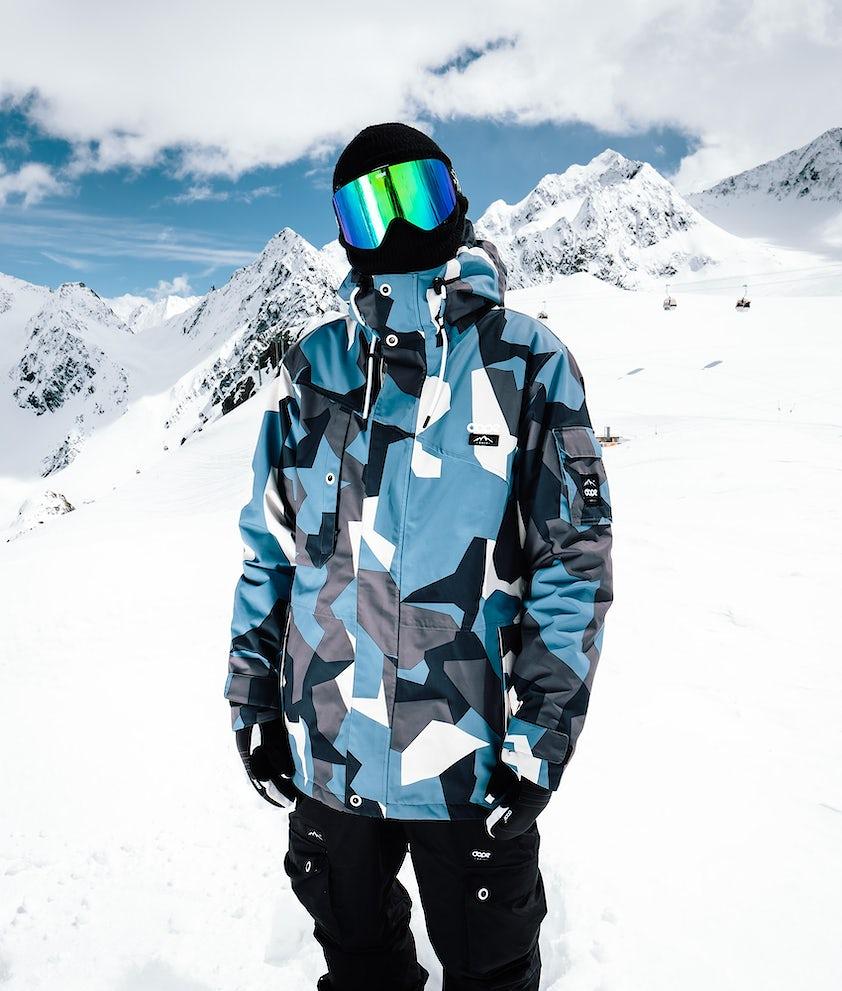Dope Adept Snowboardjacka Blue Camo
