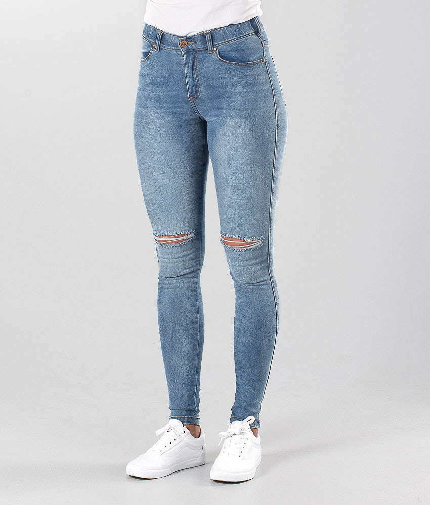 Dr Denim Lexy Pants Light Stone Destroyed
