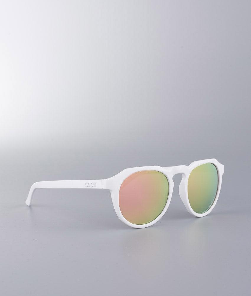 Dope Old School 3 Sunglasses White Mirror Rose