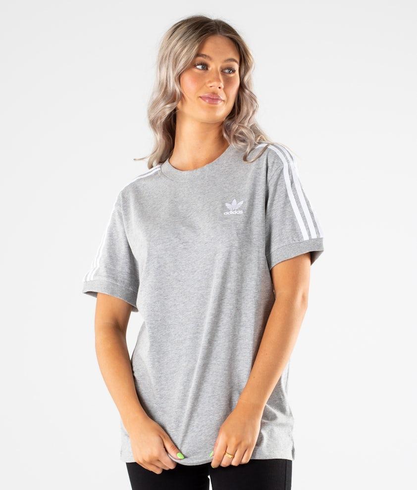Adidas Originals 3 Stripes T-shirt Medium Grey Heather