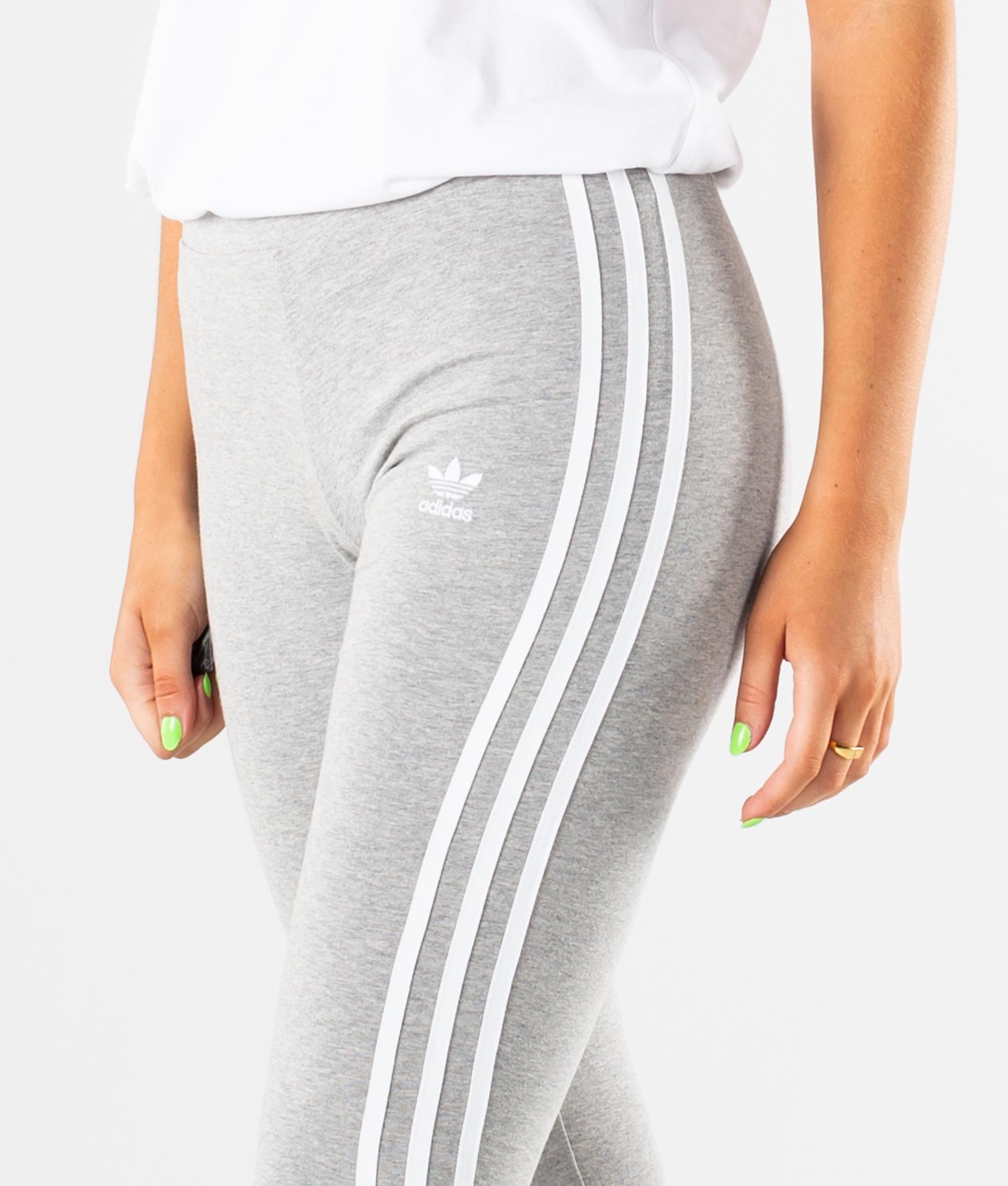 Adidas 3 Stripes Tights Medium Grey HeatherWhite