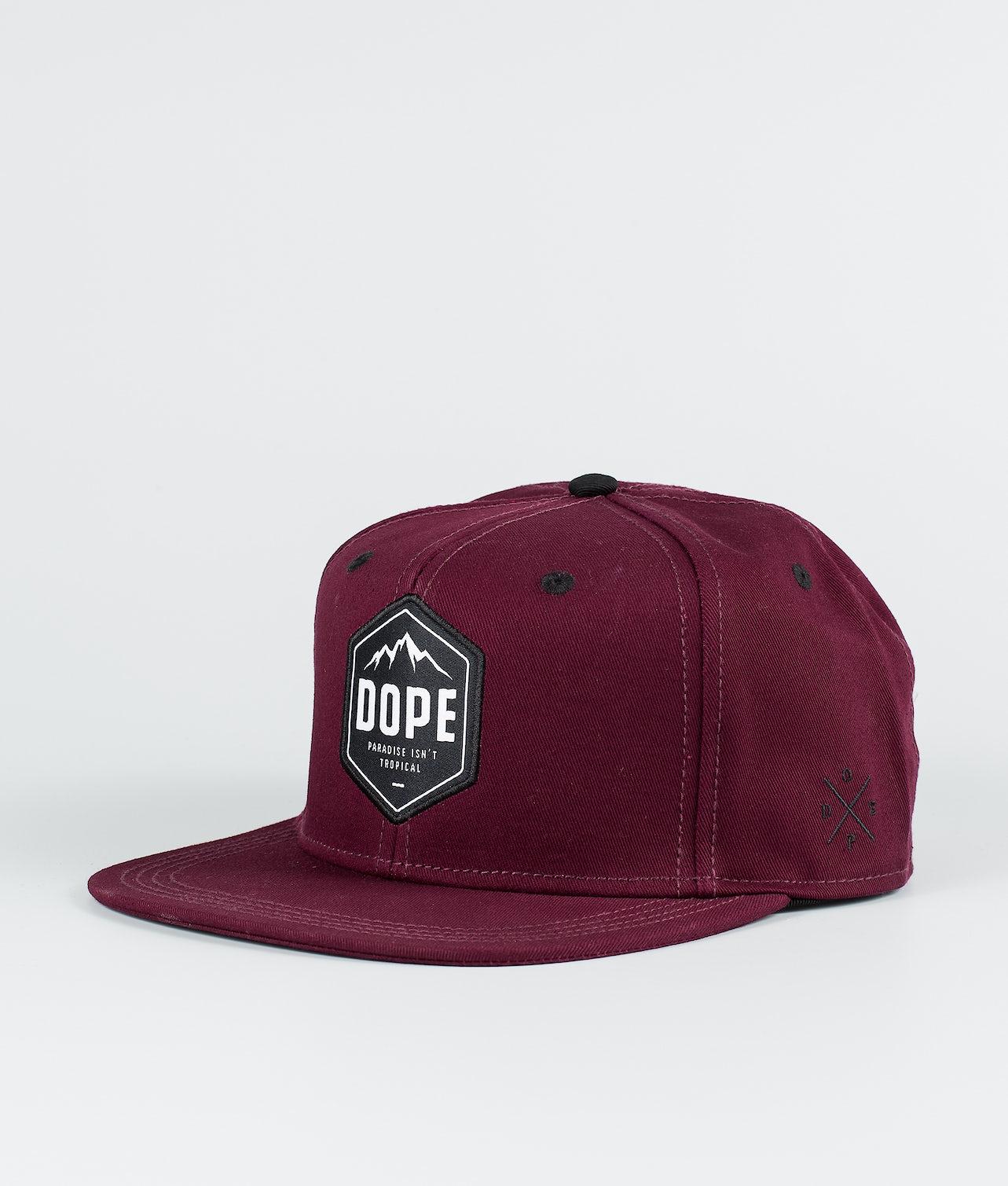 Dope Paradise Caps Burgundy