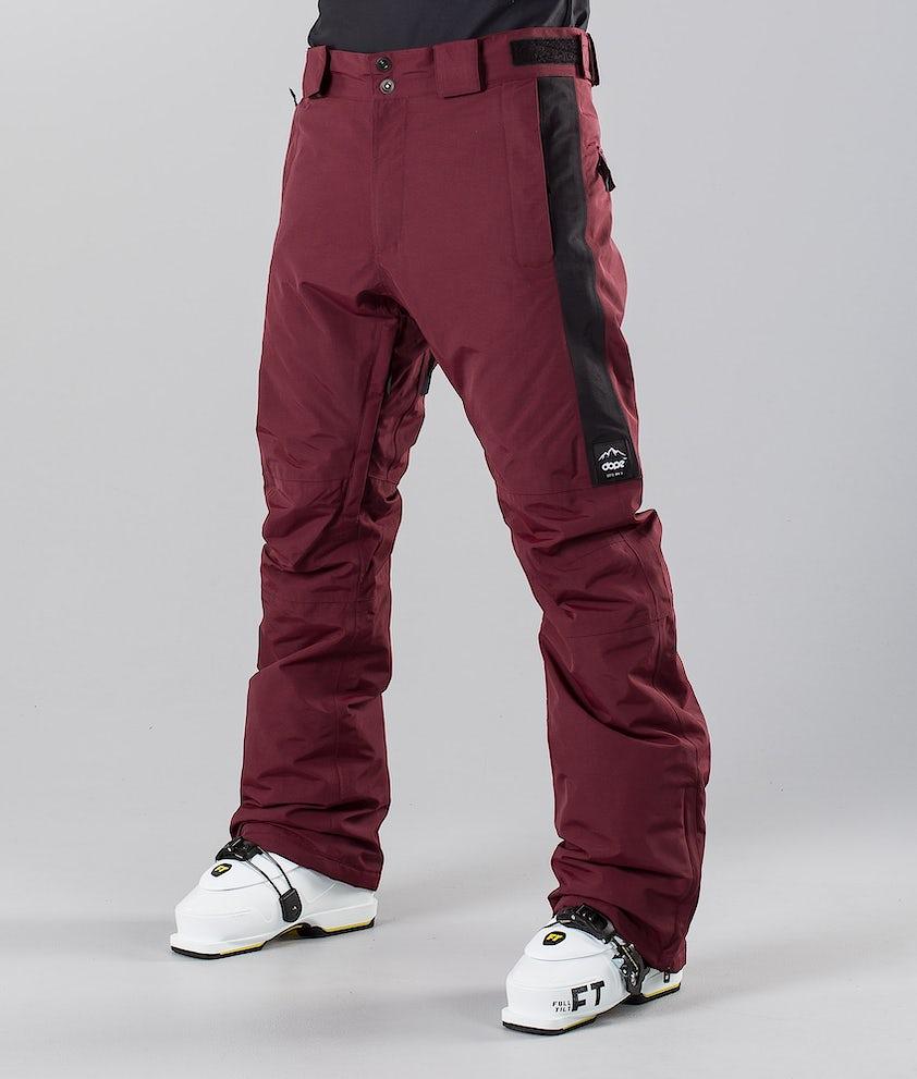 Dope Hoax II 18 Pantalon de Ski Burgundy