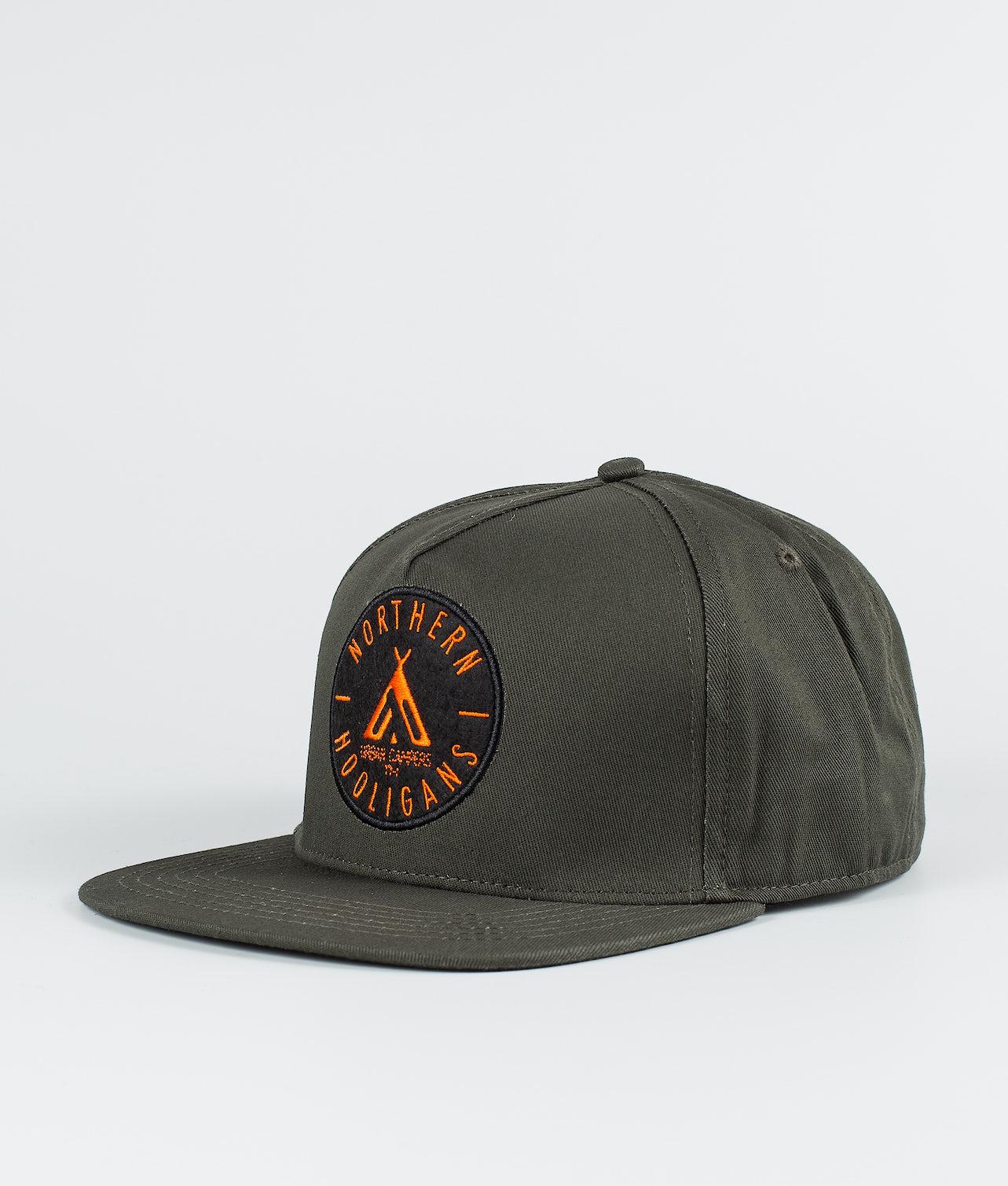 Northern Hooligans Urban Campers Snapback Caps Woods Green