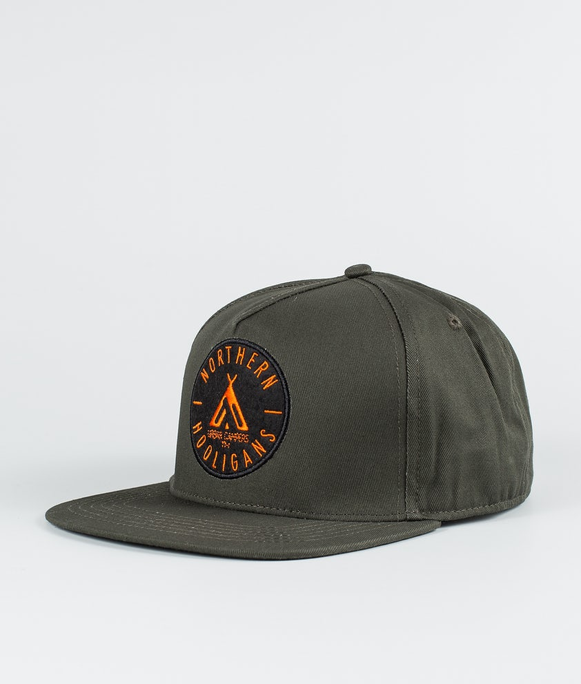 Northern Hooligans Urban Campers Snapback Cap Woods Green