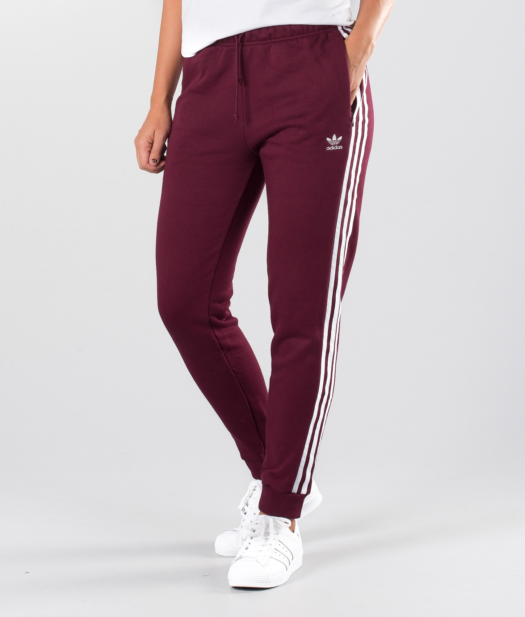 Adidas Originals Regular Trackpant Cuff Hosen Maroon