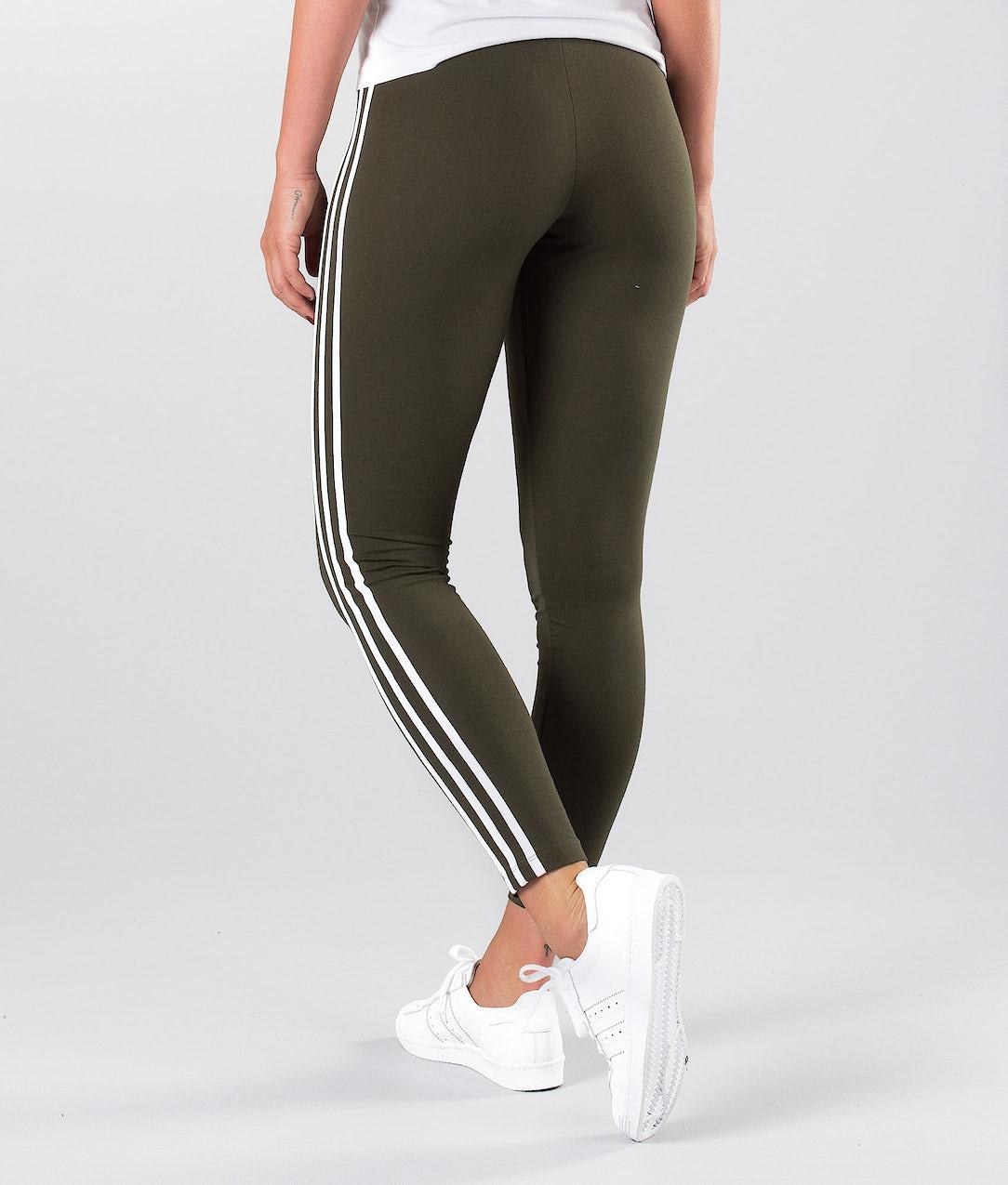 outlet online classic classic style Adidas Originals 3 Stripe Leggings Night Cargo