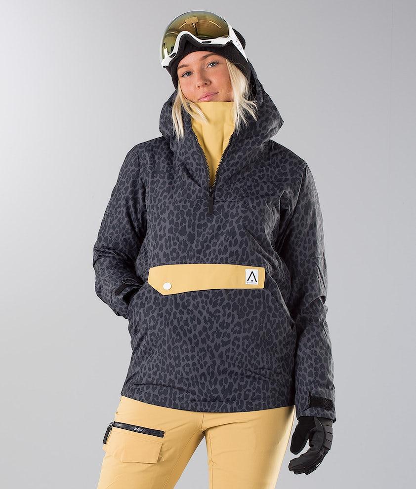WearColour Homage Snowboard Jacket Black Leo