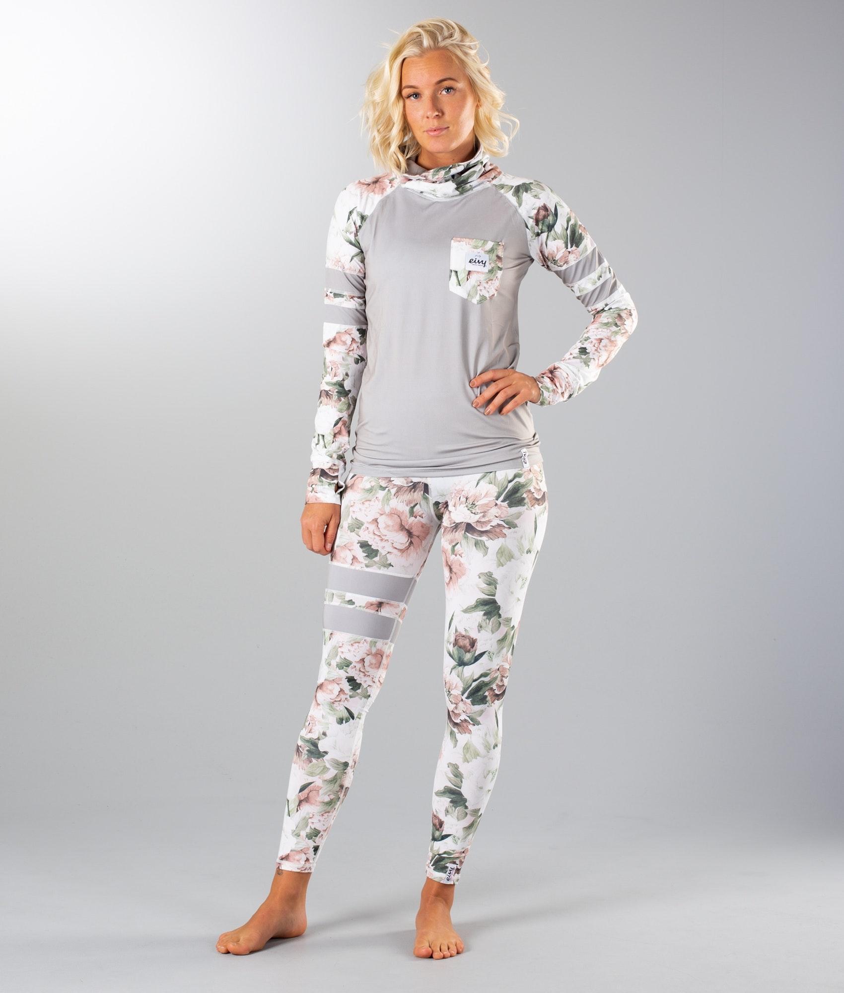 Eivy Womens Icecold Adjustable Top Damen Warme Ski-Thermo Funktionsunterw/äsche Langarm Mit Anpassbarem Fleecekragen Functional Underwear