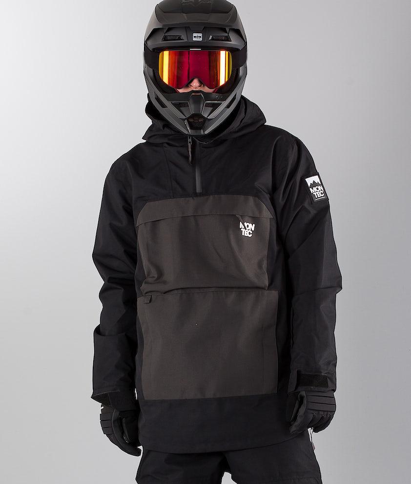 Montec Dune Snøscooterjakke Black Dark Grey