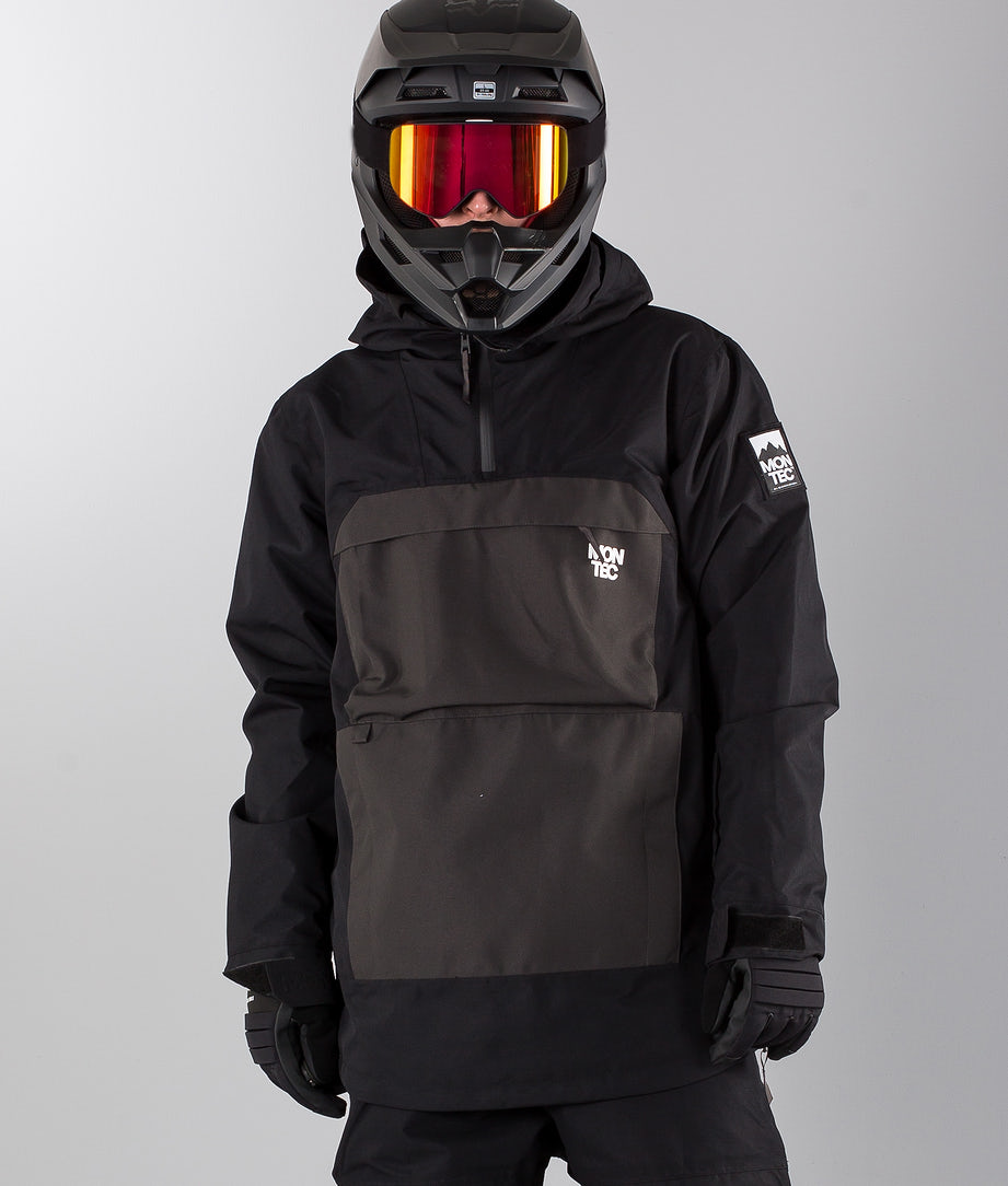 Montec Dune Snowmobile Jacket Black Dark Grey
