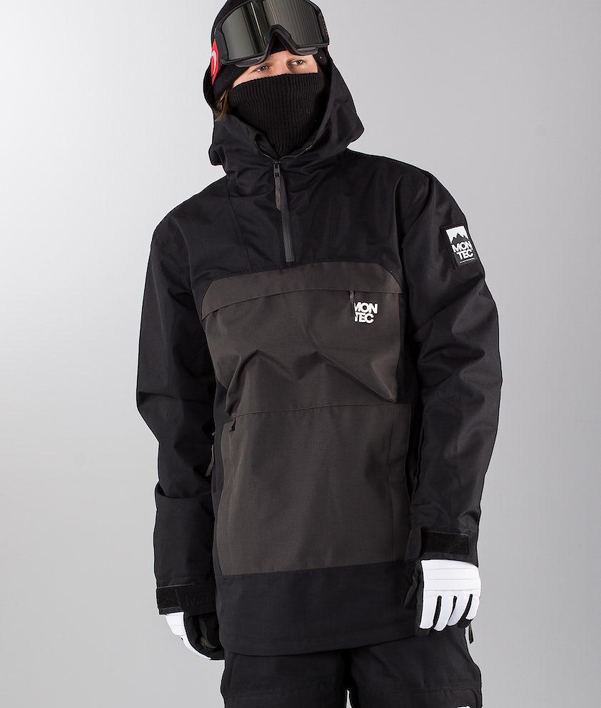 Montec Dune Ski Jacket Black Dark Grey